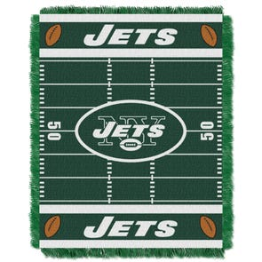 New York Jets NFL Field Woven Jacquard Baby Throw by Northwest Company
