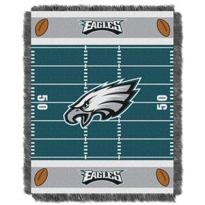Philadelphia Eagles NFL Field Woven Jacquard Baby Throw by Northwest Company