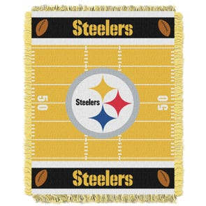 Pittsburgh Steelers NFL Field Woven Jacquard Baby Throw by Northwest Company