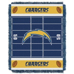 San Diego Chargers NFL Field Woven Jacquard Baby Throw by Northwest Company