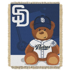 San Diego Padres MLB Field Bear Woven Jacquard Baby Throw by Northwest Company