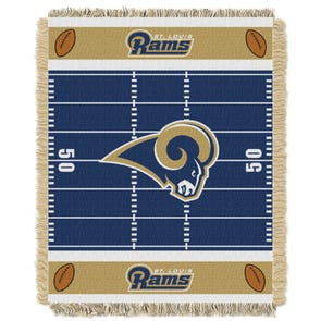 St. Louis Rams NFL Field Woven Jacquard Baby Throw by Northwest Company