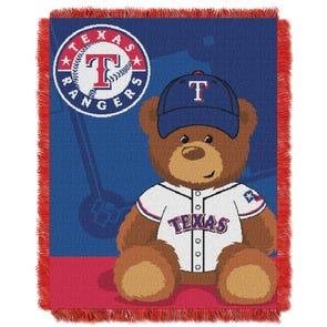 Texas Rangers MLB Field Bear Woven Jacquard Baby Throw by Northwest Company
