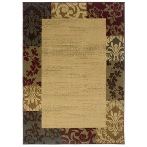 Oriental Weavers Allure 9A Geometric Red and Gold Area Rug