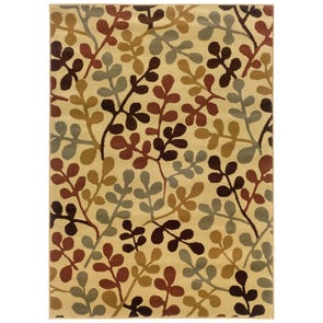 Oriental Weavers Amelia 2331R Floral Red and Ivory Area Rug