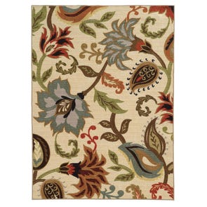 Oriental Weavers Tones 502D Floral Brown and Beige Area Rug