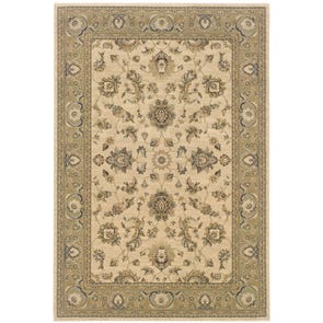 Oriental Weavers Ariana 2153B Floral Blue and Ivory Area Rug