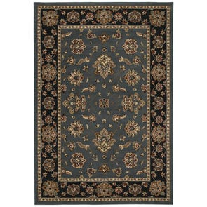 Oriental Weavers Ariana 2302B Floral Blue and Gold Area Rug