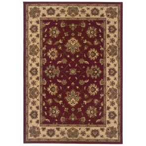 Oriental Weavers Ariana 623M Floral Black and Red Area Rug