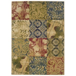 Oriental Weavers Camden 2395C Floral Gold and Green Area Rug