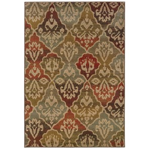 Oriental Weavers Casablanca 4437A Floral Ivory and Multicolor Area Rug