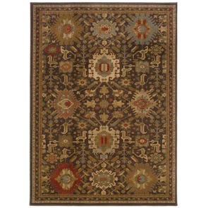 Oriental Weavers Casablanca 1376E Oriental Ivory and Beige Area Rug