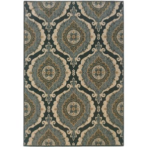 Oriental Weavers Chloe 3965A Oriental Grey and Blue Area Rug