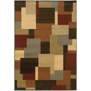 Oriental Weavers Allure 53A Geometric Green and Brown Area Rug