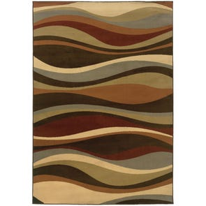 Oriental Weavers Adrienne 4178B Abstract Gray and Multicolor Area Rug
