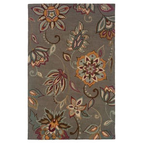 Oriental Weavers Eden 87101 Floral Grey and Gold Area Rug