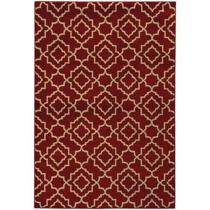 Oriental Weavers Ella 5185D Geometric Green and Beige Area Rug