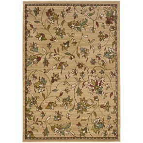 Oriental Weavers Darcy 8025D Floral Brown and Tan Area Rug
