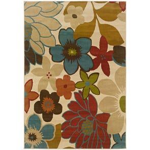 Oriental Weavers Emerson 2031A Botanical Ivory and Brown Area Rug