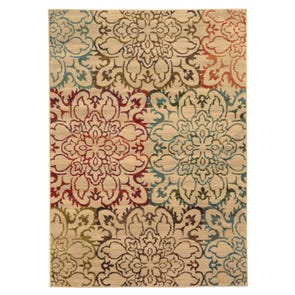 Oriental Weavers Emerson 2820A Floral Brown and Beige Area Rug