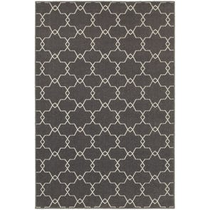 Oriental Weavers Hampton 4929B Geometric Navy and Grey Area Rug