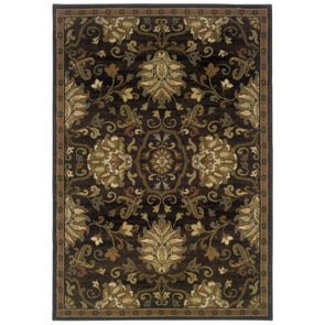 Oriental Weavers Genesis 8025X Abstract Beige and Green Area Rug