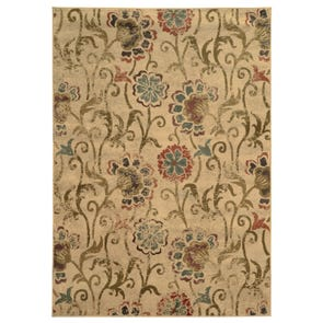 Oriental Weavers Eden 87108 Floral Brown and Blue Area Rug