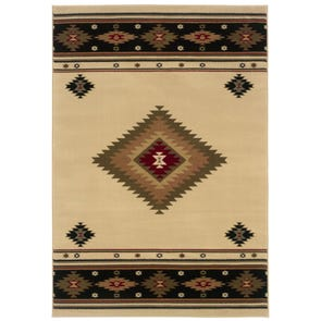 Oriental Weavers Hudson 1067A Southwest Lodge Brown and Red Area Rug