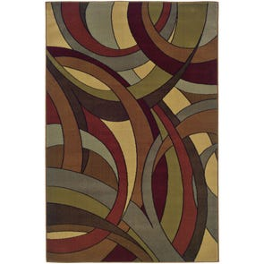 Oriental Weavers Genesis 5560D Abstract Tan and Brown Area Rug