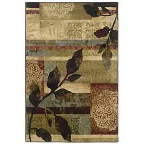 Oriental Weavers Huntington 1279E Floral Brown and Beige Area Rug