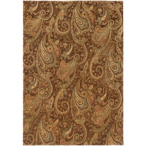 Oriental Weavers Huntley 19112 Floral Brown and Rust Area Rug