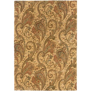 Oriental Weavers Huntley 19102 Floral Paisley Brown and Gold Area Rug