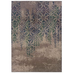 Oriental Weavers Infinity 1133B Abstract Beige and Blue Area Rug