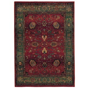Oriental Weavers Infinity 2227D Floral Brown and Beige Area Rug