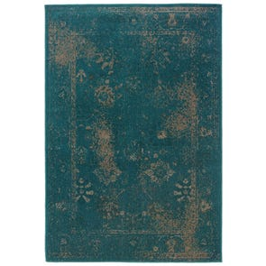 Oriental Weavers Revival 3689G Oriental Black and Teal Area Rug