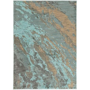 Oriental Weavers Sedona 6365A Abstract Blue and Red Area Rug