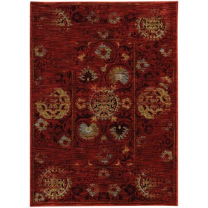 Oriental Weavers Sedona 6366A Oriental Red and Gold Area Rug