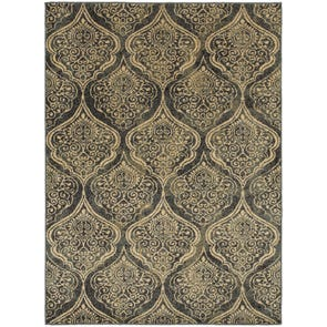 Oriental Weavers Sedona 6386E Oriental Red and Gold Area Rug
