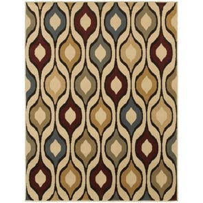 Oriental Weavers Sedona 5937D Geometric Blue and Multi Area Rug