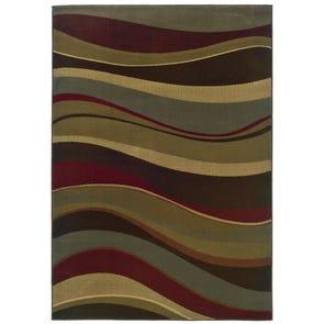 Oriental Weavers Kasbah 3951A Striped Brown and Rust Area Rug