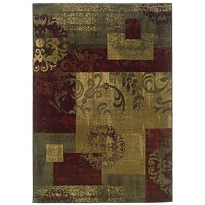 Oriental Weavers Kharma II 618F Abstract Blue and Green Area Rug