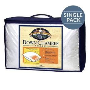 Pacific Coast Feather Down Chamber King Pillow in White