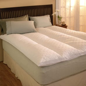 Pacific Coast Feather Euro Rest Queen Feather Bed in White