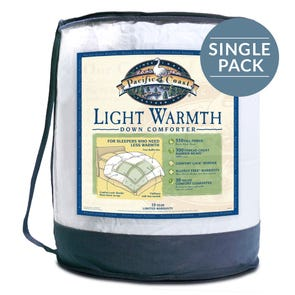 Pacific Coast Feather Light Warmth Twin Comforter in White