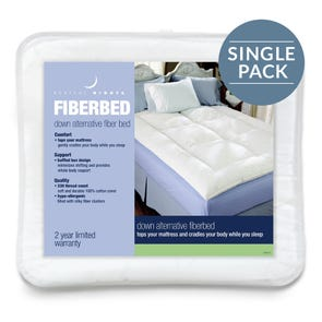 Pacific Coast Feather Restful Nights Down Alternative Full Fiber Bed in White