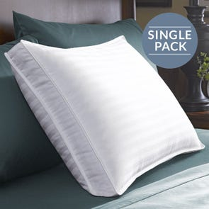 Pacific Coast Feather Restful Nights Down Surround Firm Density Queen Pillow in White
