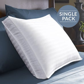 Pacific Coast Feather Restful Nights Down Surround Medium Density Queen Pillow in White