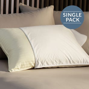 Pacific Coast Feather Restful Nights Essential Queen Pillow Protector in White
