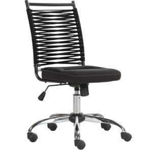 Parker House Bungee Low Back Adjustable Office Chair in Black