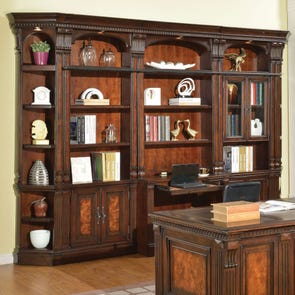 Parker House Corsica 6 Piece Library Desk Wall